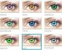 Χρωματιστοί φακοί B&L Natural Colors X 4